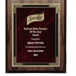 Walnut Finish Plaque with Marble Mist Achievement Awards