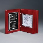 Rosewood Piano Book Clock Employee Awards