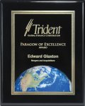 Ebony Piano Finish Plaque with Themed Florentine Plate Employee Awards