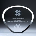 Shell Plaque Crystal Award Employee Awards